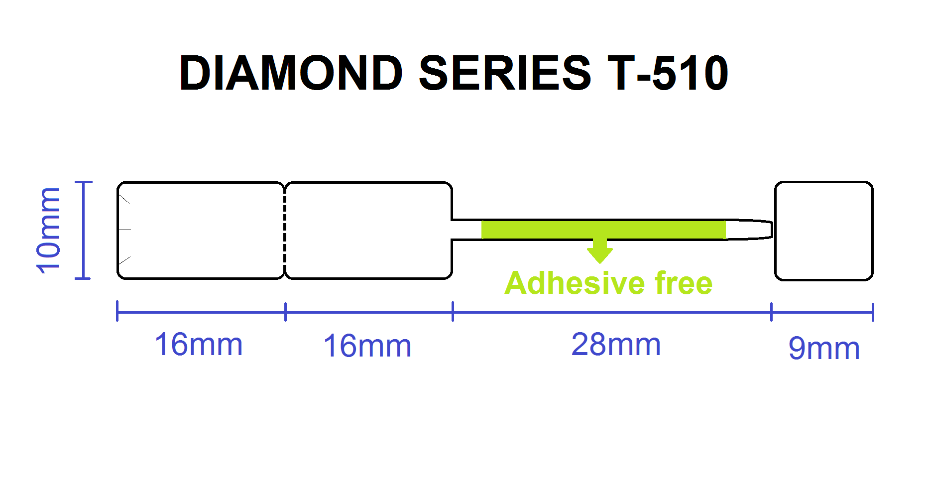 Diamond style 510 with security tears